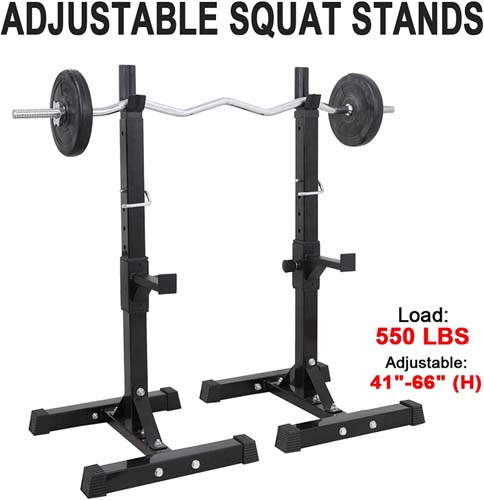 F2C Max Load 550Lbs Pair of Adjustable 40-66 inch Rack