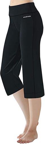 Length Women's Straight Leg Yoga Pants Zip Pocket