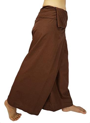 Lovely Creations Jumbo Size Man Women Thai Fisherman Wrap Pants Toray Wild Leg Baggy Yoga Casual Trousers Waist
