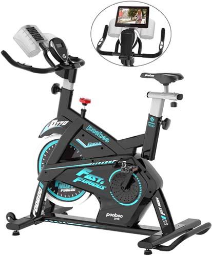 pooboo Magnetic Exercise Bike Belt Drive Indoor Cycling Bike